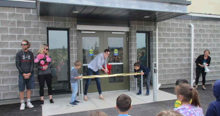 Ribbon Cutting Ceremony for the New Build